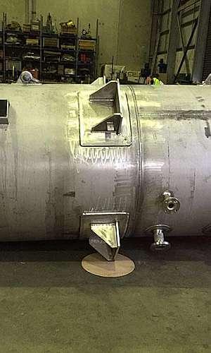 Fabricação de tanques em inox